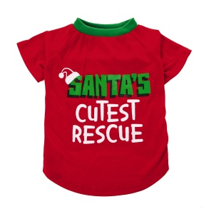 Brand: LUV-A-PET PB  Description: HOL15 SANTAS CUTEST RESCUE TEE M  SKU: 5241204, 5241203, 5241202, 5241201,   Group: Hardgoods   Buyer: Brooke Chaleff   WCA: Kellie Gonzalez